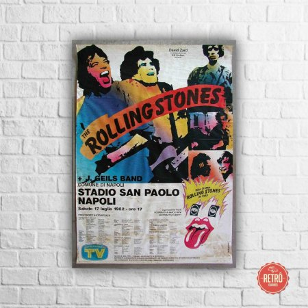 Quadro Poster Rolling Stones Itály Tour 1982