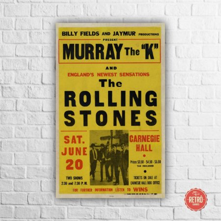Quadro Poster Stones Carnegie Hall, New York 1964