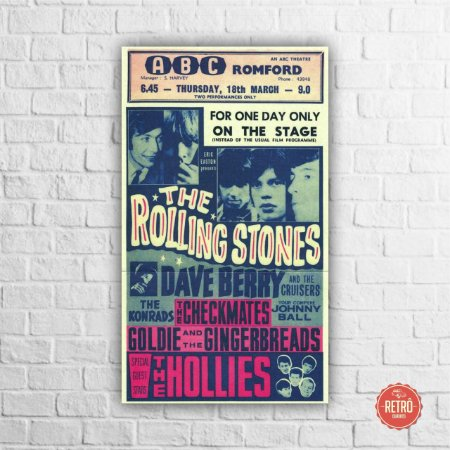 Quadro Poster Stones Romford 1965