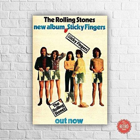Quadro Poster Stones Sticky Fingers 1971