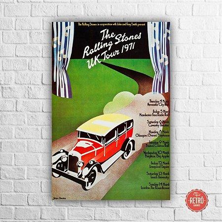 Quadro Poster Stones UK Tour 1971
