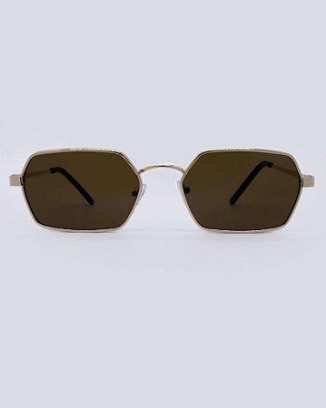 Óculos Joker Marrom com Dourado