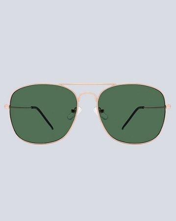 Óculos Aviador Cancún G15 com Dourado