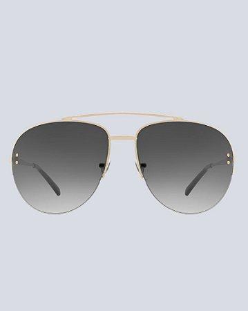 Óculos Aviador Alabama Preto com Dourado
