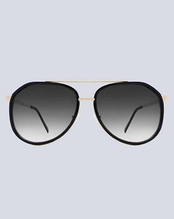 Óculos Aviador Durango Preto com Dourado