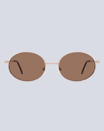 Óculos Flame Marrom com Dourado