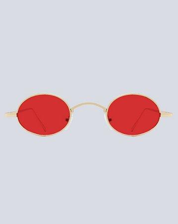 Óculos Nice Vermelho com Dourado