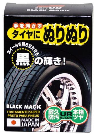 BLACK MAGIC 150 ml SOFT99 - Tratamento Super Preto para Pneus