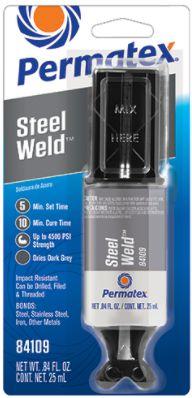 Permatex Stell Weld Titanium 25 ml - Solda de Epóxi para Vários tipos de Metais (PX84109)