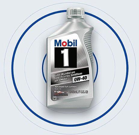 Mobil 1 0W40  - Lubrificante Sintético para Motor 946 ml - Gasolina, Diesel e Híbridos - MB BMW VW PORSCHE