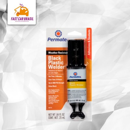Adesivo Epoxi Solda Plásticos - Permatex Black Plastic Welder 25 ml (PX84145)