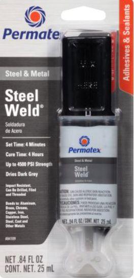 Permatex Stell Weld EPOXY Titanium 25 ml - Solda AÇO E METAL  (PX84109)
