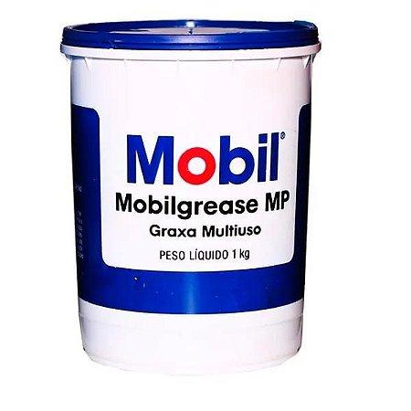 Mobil Graxa Mobilgrease MP 1 Kg (Hidroxiestearato de lítio NLGI 2)
