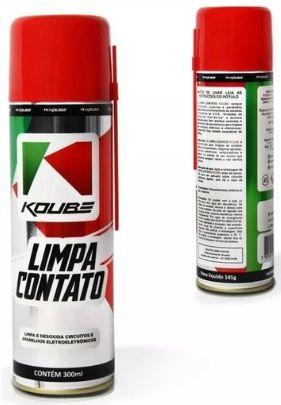 KOUBE Limpa Contato Spray  300 ml - Limpa e Desoxida Circuitos