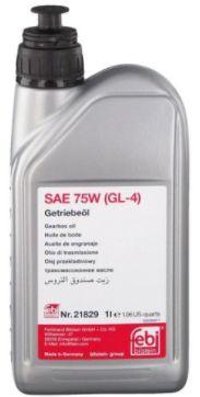Febi Fluído Sintético 21829 75W GL4 1 lt - Audi / MB / Citroen / VW / Volvo / Ford