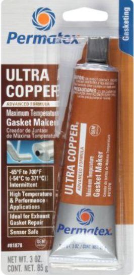 Permatex Silicone Ultra Copper 85g (PX81878) Maximum Temperature