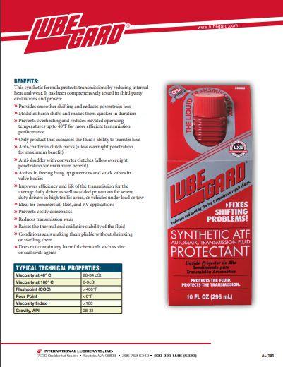 LUBEGARD Automatic Transmission Fluid PROTECTANT 296 ml - Vermelho #60902