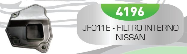 Filtro de Transmissão Automática JF011E-INT - CVT Nissan Mitsubishi Renault Fluence