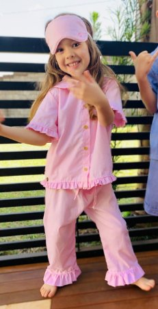 Pijama Xadrez irmãos kit 3peças