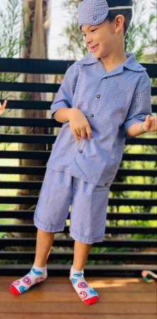 Pijama Xadrez irmãos