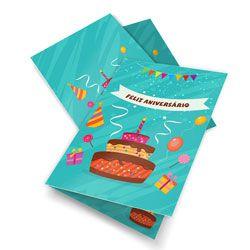 Convite de Aniversário - Couchê Brilho 250g - 4x4