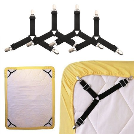 Prendedor Elastico Para Lençol Regulável Solteiro E Casal cama box