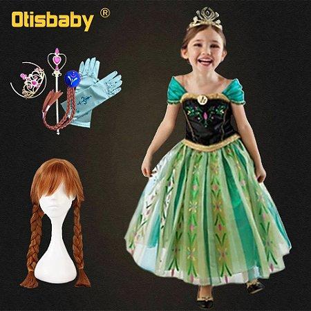 688ea4eeb Fantasia Princesa Anna Elsa Frozen | Hup Festas - Hup Festas