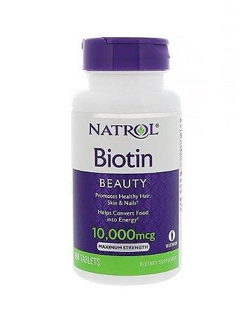 Biotina 10000mgc (Ultra Concentrada) Cabelo e Unhas fortes - 100 Tabs