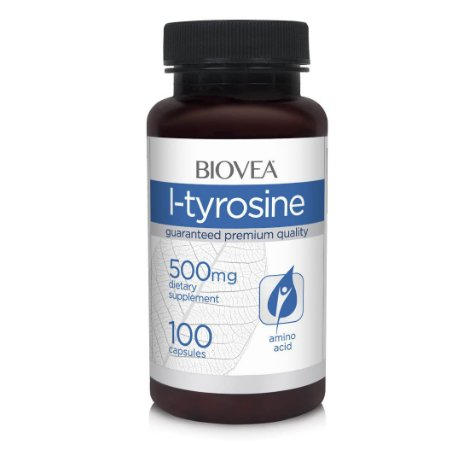 L-Tirosina Biovea 500mg (regulador da Tiróide) - 100 Caps