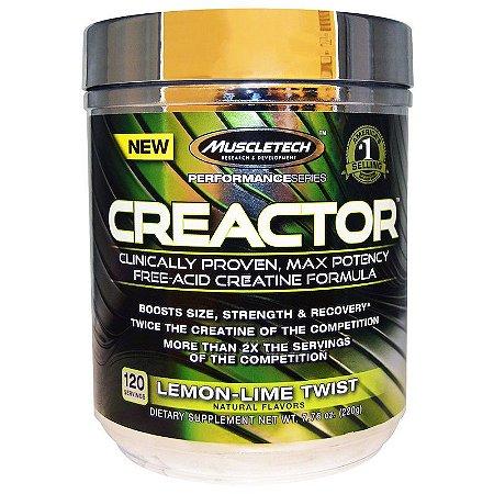 Muscletech, Creactor (Creatina Isolada HCL) Limão - 220grs