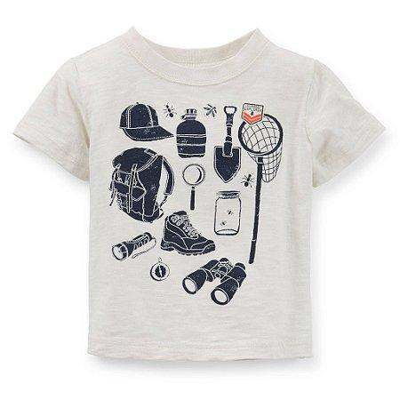 Camiseta Carters - Aventureiro - 12 meses