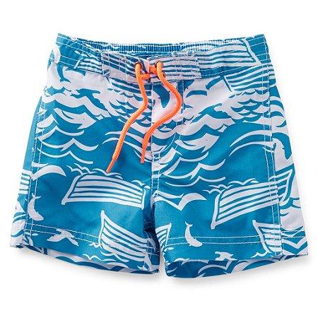Short Carters - Praia Azul - 18 meses