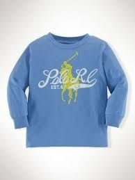 Camiseta Ralph Lauren - Azul Claro - 18 meses