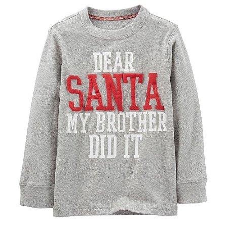 Camiseta Carters - Santa - 5T