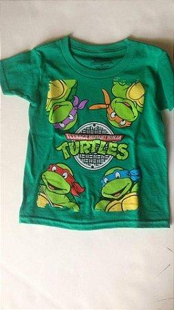 Camiseta Tartarugas Ninja - Verde