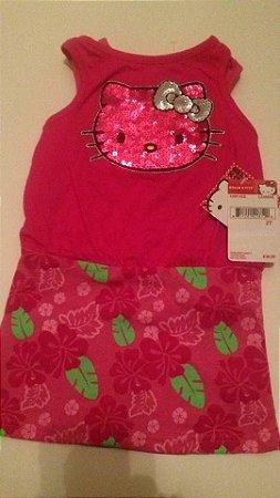 Vestido Hello Kitty - Rosa