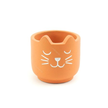 Cachepô em Cimento Terracota Gato Pequeno