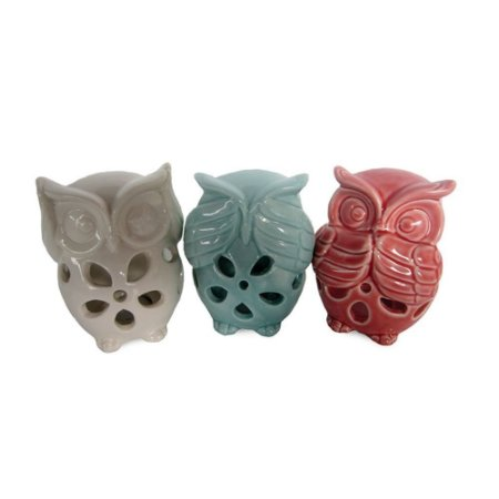 Corujas em Cerâmica Cega Surda e Muda Candy Colors