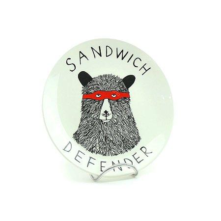 Prato em Cerâmica Snack Sandwich
