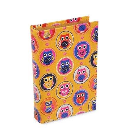 Livro Caixa Corujinhas Amarelo