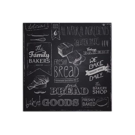 Placa Decorativa de Madeira Fresh Bread 40x40