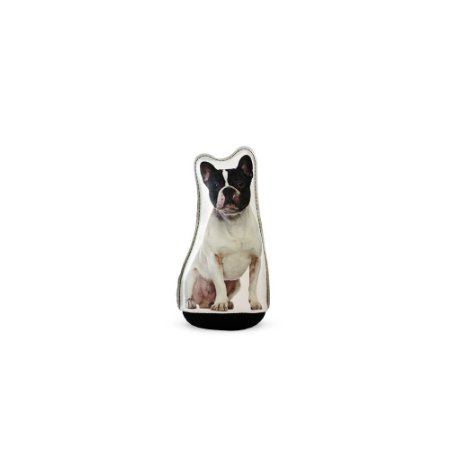 Peso de Papel Cachorro Bulldog Francês Preto e Branco