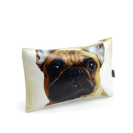 Necessaire Estampada Média Cachorro Bulldog Francês