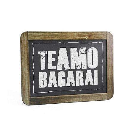 Quadro Decorativo Gizlosofia Te Amo Bagarai