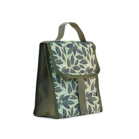 Bolsa Térmica Dobrável Folhas Verde