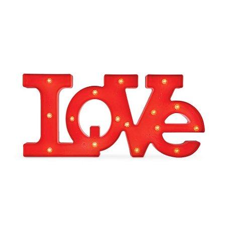 Letreiro Love Vermelho com LED