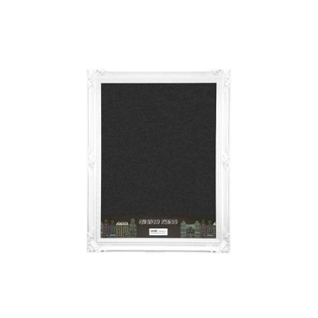 Quadro Negro com Moldura Vintage Branca 30x40