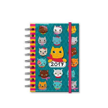 Agenda Pequena Gatinhos Divertidos 2017