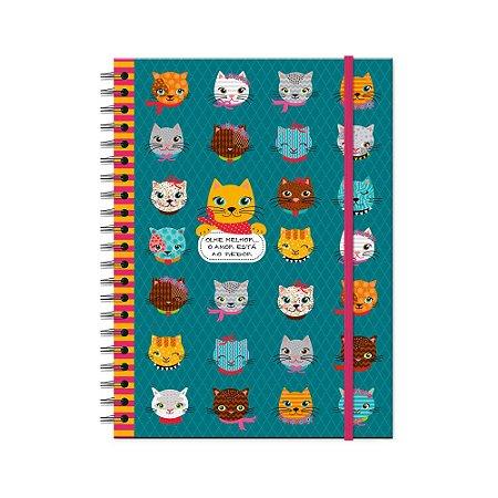 Caderno Universitário Gatinhos Divertidos 100 folhas