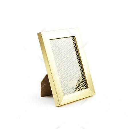 Porta Retrato Dourado Escovado 10x15